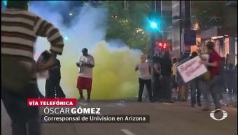 Dispersan manifestantes Phoenix mitin de Trump