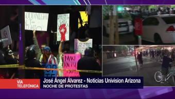 Noche de protestas en Phoenix Arizona