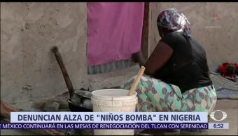 Nigeria, utilizan, niños, bombas