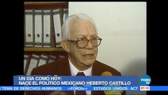 Nace, político, mexicano, Heberto Castillo