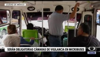 Cámaras y cajas negras en microbuses