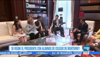 EPN se reúne con lesionados en secundaria de Monterrey