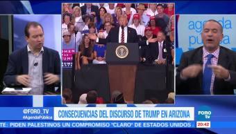 Consecuencias del discurso de Trump en Arizona