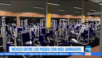 México, encuentra, países, gimnasios