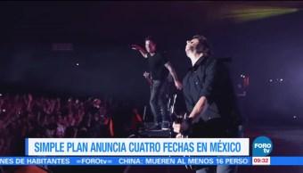 Simple Plan, anuncia, fechas, México