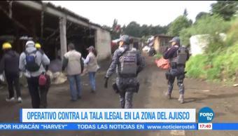 detenidos operativo contra tala ilegal Ajusco