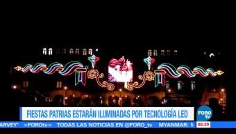 Fiestas patrias iluminadas por tecnología LED