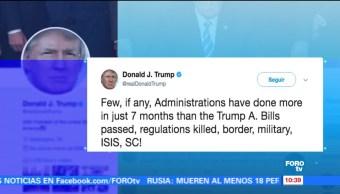 Trump pide al Senado eliminar filibuster