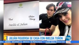 Julián Figueroa se casa en Monterrey