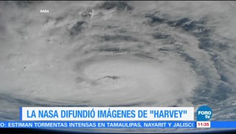 NASA difunde video del huracán Harvey