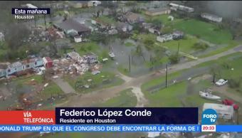 Jamás habíamos visto una inundación así, dice testigo en Houston