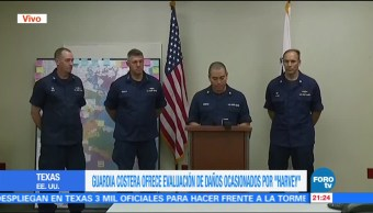Guardia Costera informa de las acciones para hacer frente a Harvey