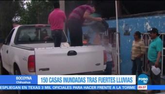 Afectaciones en 150 viviendas de Chihuahua por intensas lluvias