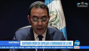Suspenden Orden Para Expulsar Al Comisionado De La Onu En Guatemala