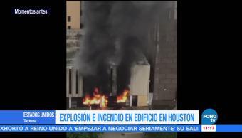 Explosión, incendio, centro, Houston