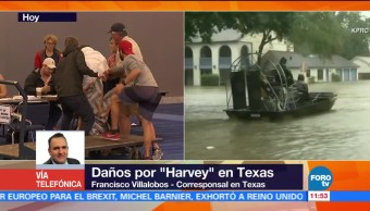 damnificados, están, albergues, Houston
