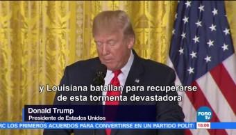 Recuperacion Desastre Harvey Larga Trump Presidente Donald Trump