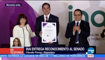 Inai Reconoce Senado Materia Transparencia Instituto Nacional De Transparencia
