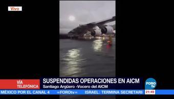 34 vuelos han sido desviados del AICM por severa lluvia34 vuelos han sido desviados del AICM por severa lluvia