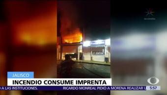 Incendio, consume, imprenta, Ocotlán