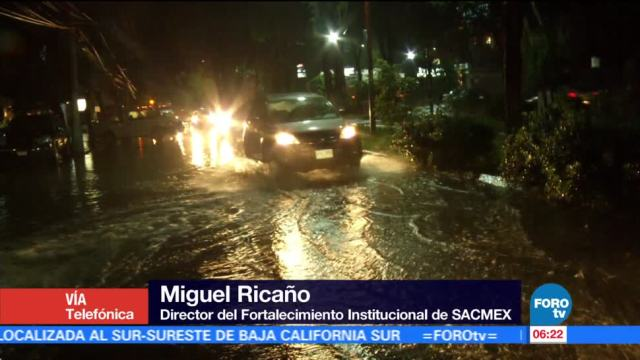 Afectaciones, lluvias, Ciudad, México