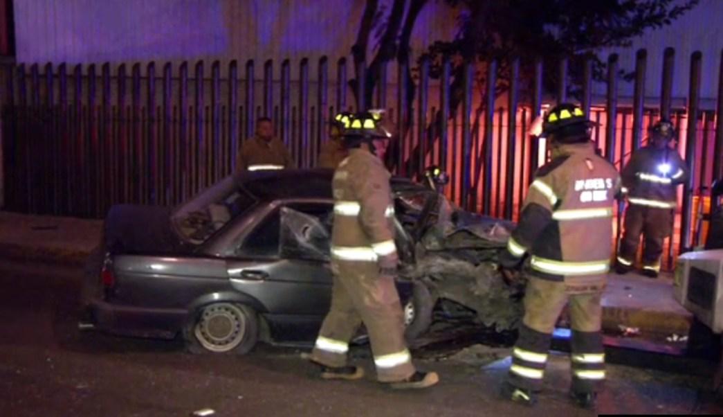 accidentes contra postes en la ciudad de mexico