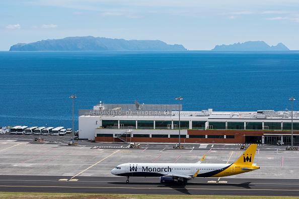 Aeropuerto de madeira en portugal afectado por viento