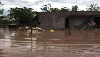 lluvia inunda 110 viviendas aguaruto sinaloa