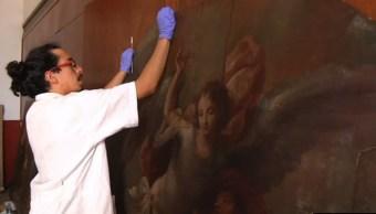 Restauran arte sacro en iglesia de queretaro
