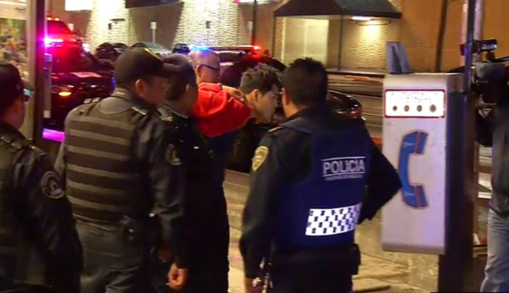 Policias detienen a rata en la colonia doctores