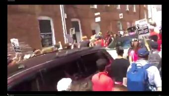 Automovilista, atropella, manifestantes, marcha