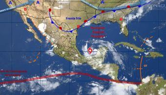 Avance de la tormenta tropical 'Franklin' hacia las costas de Veracruz