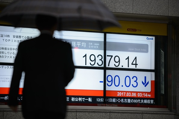 Resultados negativos de la Bolsa de Tokio