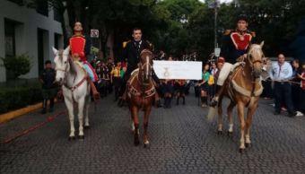 Conmemoran con cabalgata el 170 aniversario de la batalla de Churubusco