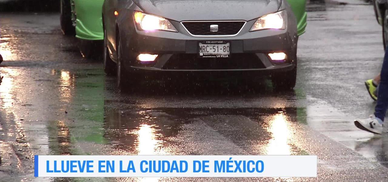 Cae lluvia intensa en la delegación Cuauhtémoc