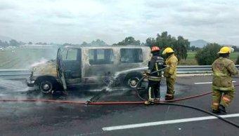 se incendia camioneta autopista texcoco piramides