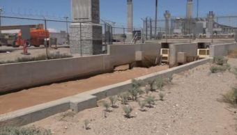 Canal de riego en la frontera de México con Texas