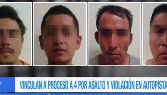 Vinculan a proceso a 4 implicados en asalto a familia en Puebla