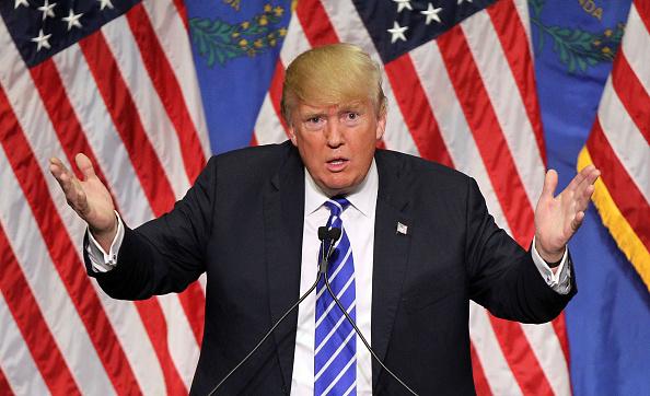 Donald trump da un discurso en las vegas