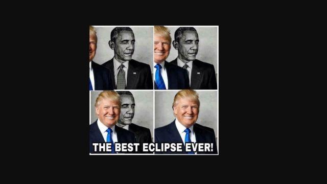 Donald Trump eclipsa a Barack Obama en un meme