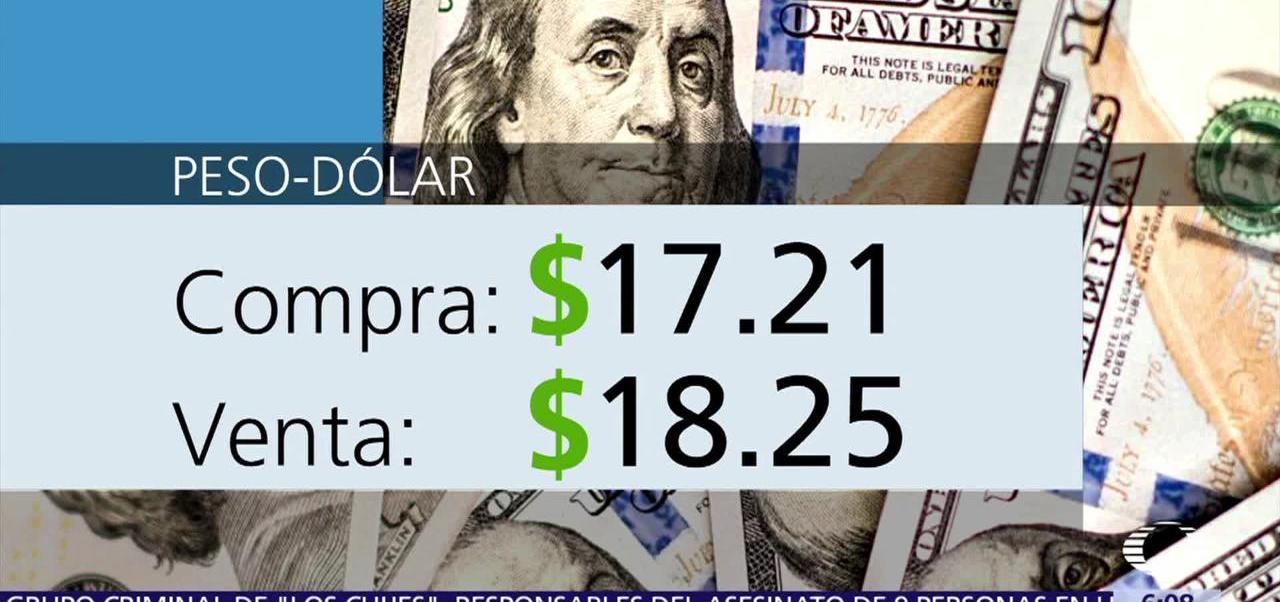 dólar, vende, $18.25, casas de cambio