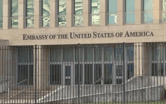 Sede de la embajada de Estados Unidos en La Habana, Cuba.