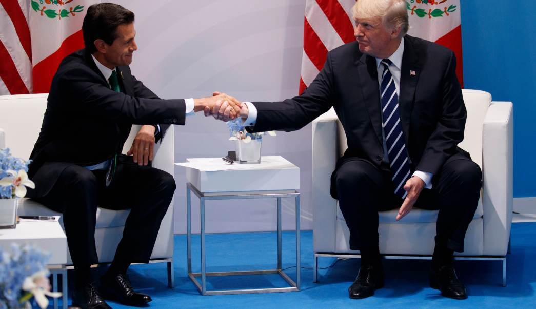 Enrique Peña Nieto y Donald Trump, en el G20