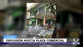Explosión, afecta, plaza, Colima