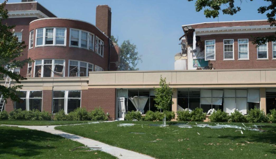 Explosion Provoca Derrumbe Escuela Minneapolis Estados