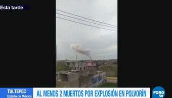 Se registra explosión en Tultepec Edomex