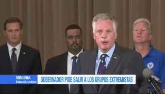 Gobernador de Virginia acusa a extremistas de incitar a la violencia