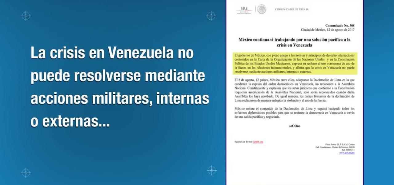 Gobierno, México, rechaza, amenaza