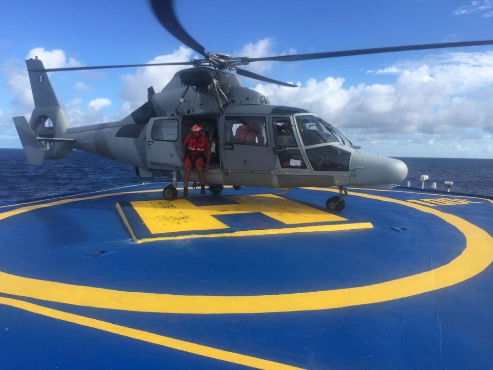 Helicóptero de rescate de la Secretaría de Marina