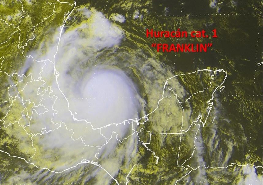 Franklin se convierte huracán se aproxima Veracruz